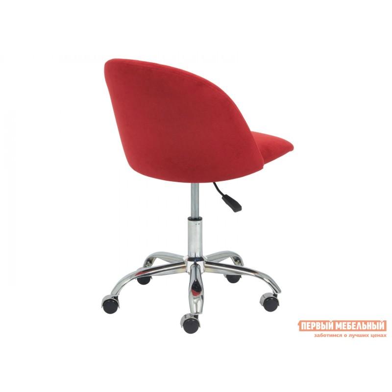 Офисное кресло  MELODY Бордовый, флок (фото 4)