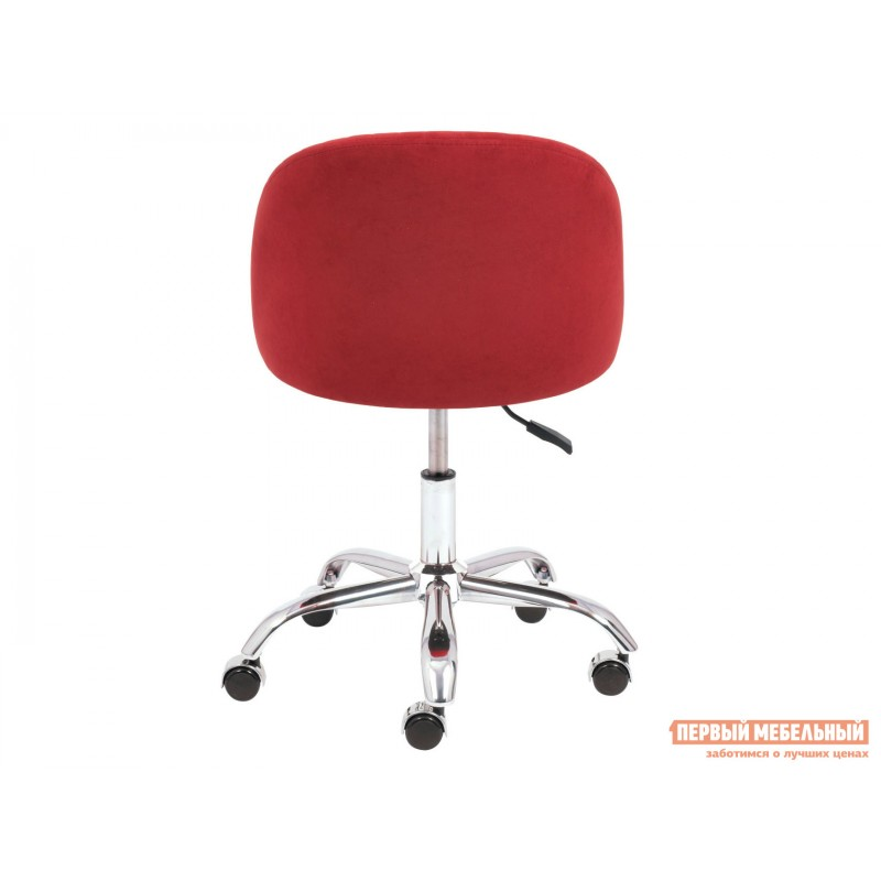 Офисное кресло  MELODY Бордовый, флок (фото 5)