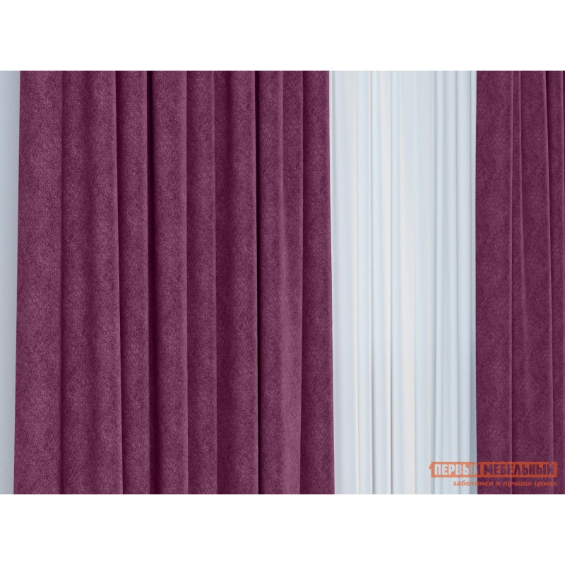 Шторы  Портьера ШП(24), Размер 200х270 Фиолетовый, блэкаут (фото 3)