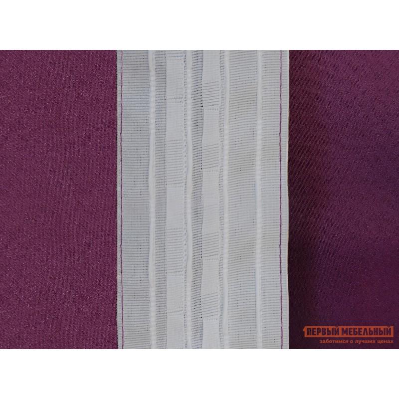 Шторы  Портьера ШП(24), Размер 200х270 Фиолетовый, блэкаут (фото 4)