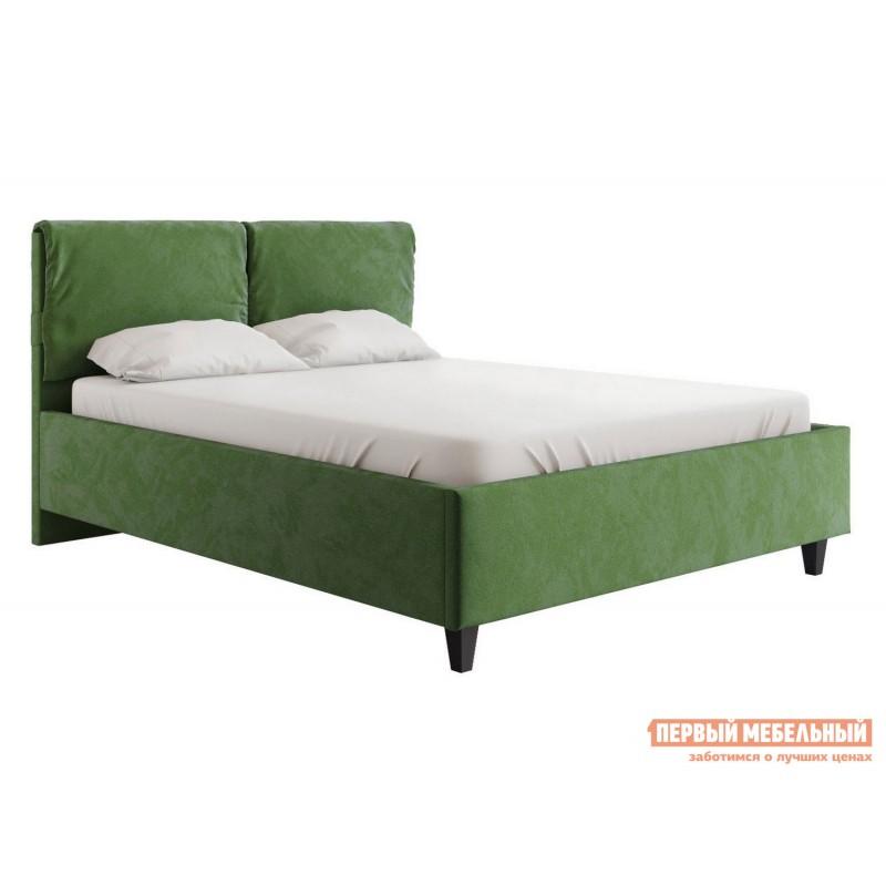 Двуспальная кровать  Кровать Лаура с подъемным механизмом 140х200, 160х200, 180х200 Зеленый, микровелюр, 180х200 см