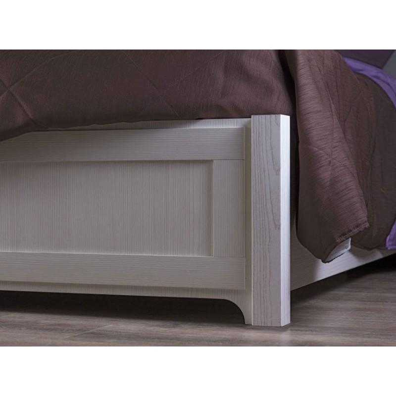Двуспальная кровать  Карина 306 / 307 / 308 1800 Х 2000 мм, С деревянным основанием, Бодега светлый / Furor Brown Grey (фото 6)
