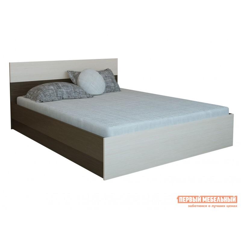 Двуспальная кровать  Кровать Юнона 1,4 / 1,6 Венге / Дуб, 1600 Х 2000 мм, Без подъемного механизма