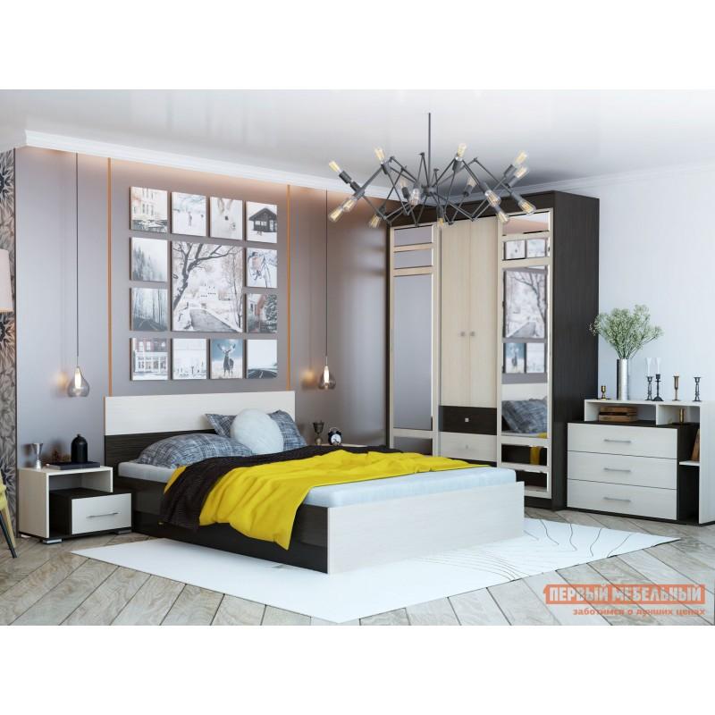 Двуспальная кровать  Кровать Юнона 1,4 / 1,6 Венге / Дуб, 1600 Х 2000 мм, Без подъемного механизма (фото 2)