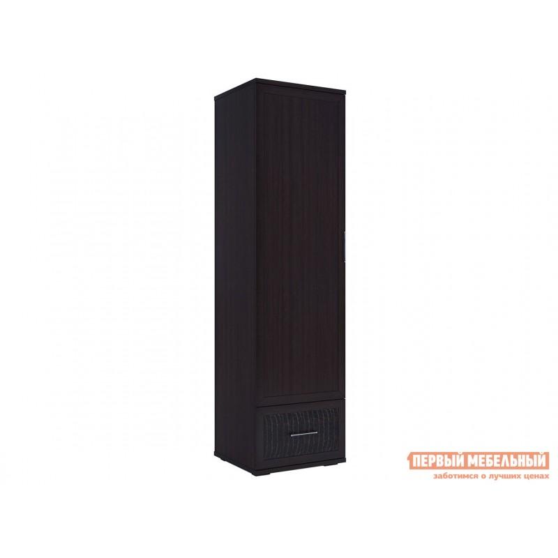 Распашной шкаф  Шкаф для одежды Парма Люкс Венге / Искусственная кожа caiman, Стандарт