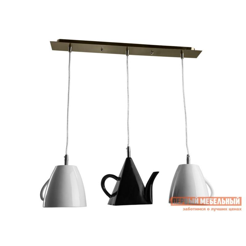 Потолочная люстра  Подвесной светильник CAFFETTERIA A6604SP-3WH Хром / Черно-белый