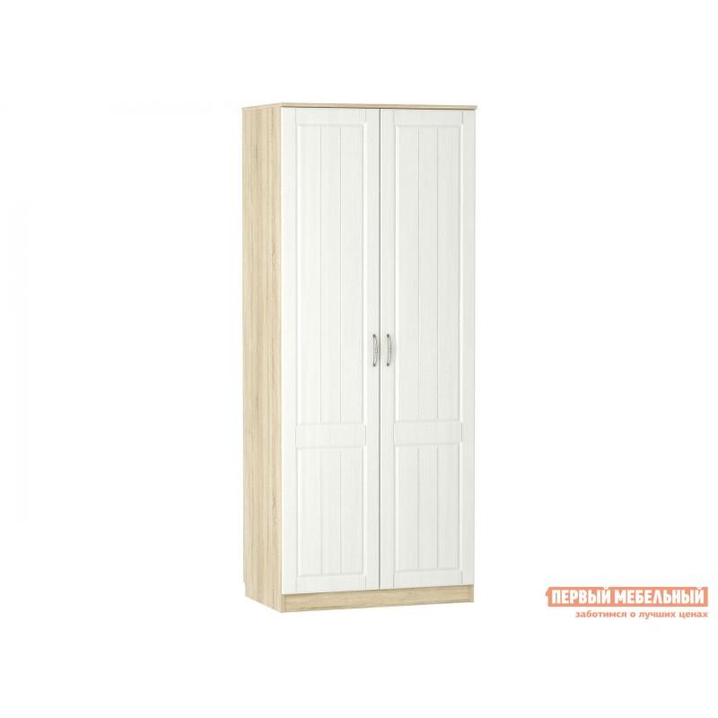 Распашной шкаф  Шкаф 2 дв Оливия НМ 040.60 Ф Дуб сонома / Белое дерево