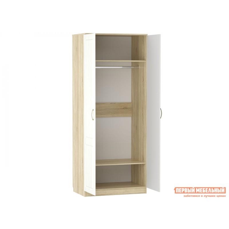 Распашной шкаф  Шкаф 2 дв Оливия НМ 040.60 Ф Дуб сонома / Белое дерево (фото 2)