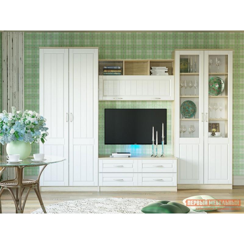 Распашной шкаф  Шкаф 2 дв Оливия НМ 040.60 Ф Дуб сонома / Белое дерево (фото 3)