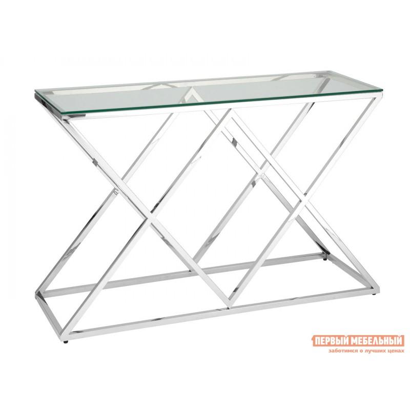 Консоль  ECST-026_120 Прозрачное стекло / Сталь, серебро