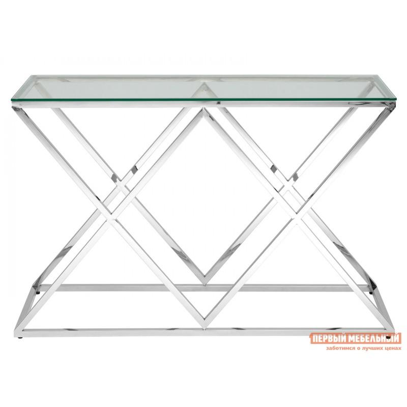 Консоль  ECST-026_120 Прозрачное стекло / Сталь, серебро (фото 2)