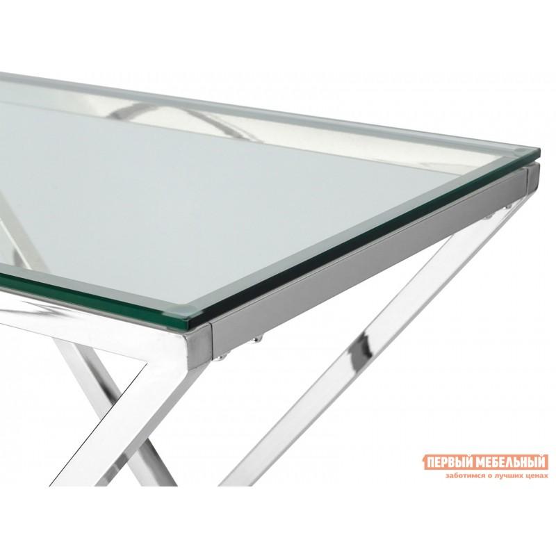 Консоль  ECST-026_120 Прозрачное стекло / Сталь, серебро (фото 4)