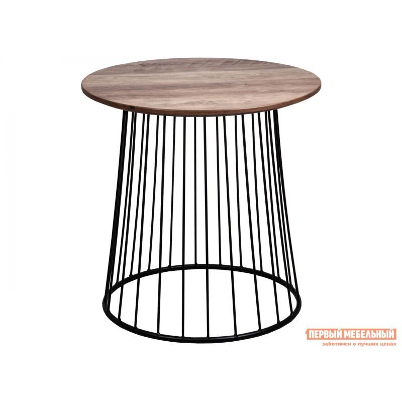 Журнальный столик  Стол журнальный FLIP Орех / Черный, 500 х 500 х 500 мм
