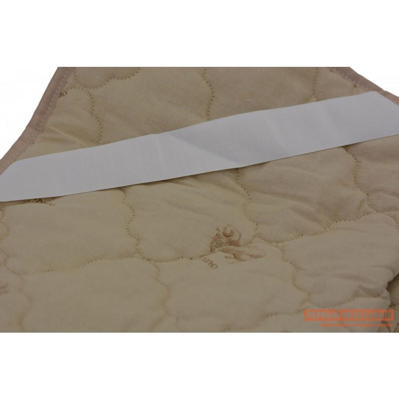 Чехол для матраса  Наматрасник овечья шерсть хлопок Бежевый с рисунком, 2000 Х 2000 мм (фото 3)