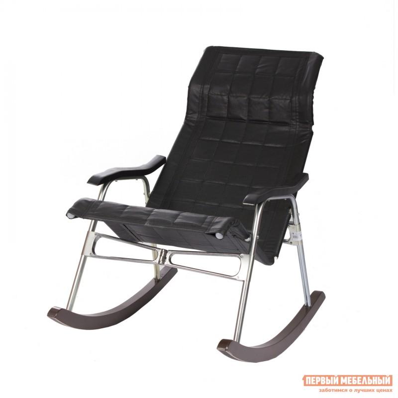 Кресло-качалка  Кресло-качалка Брисбен Иск. кожа черная