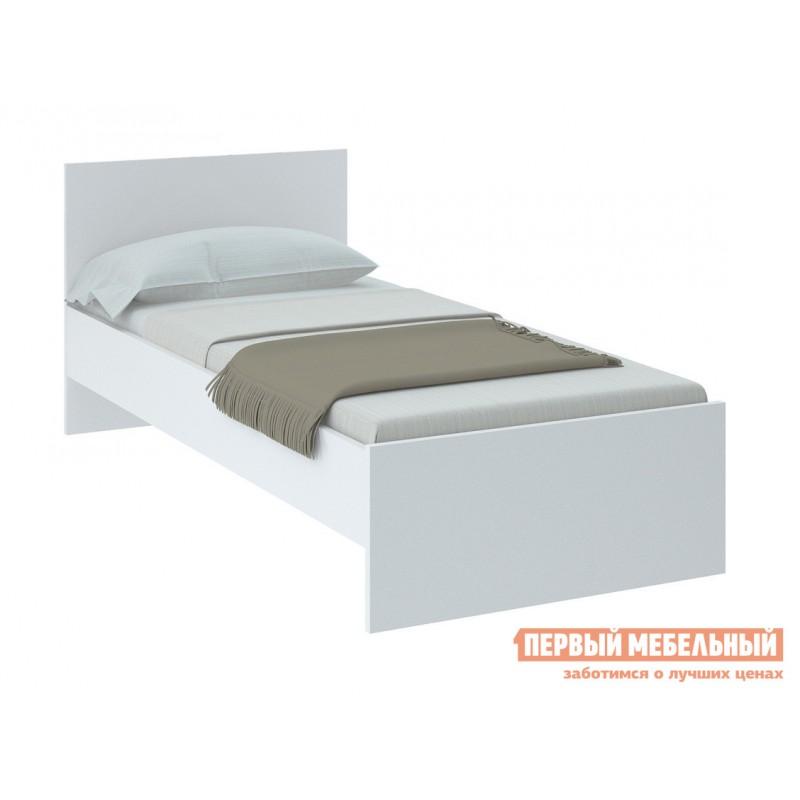 Односпальная кровать  НИКОЛЬ кровать Белый, 900 Х 2000 мм, С основанием