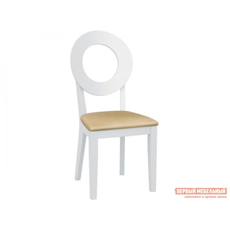 Стул  Стул Коломбо 2 с жесткой спинкой Каркас эмаль белая / Сиденье Nitro Cream, кожзам