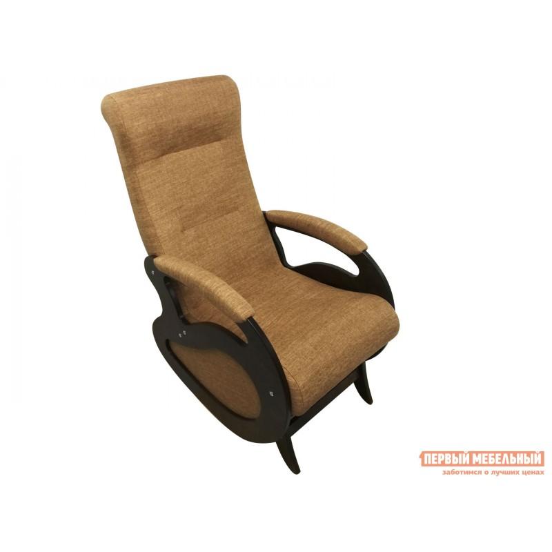 Кресло-качалка  Кресло качалка Маятник Светло-коричневый, рогожка / Темный орех