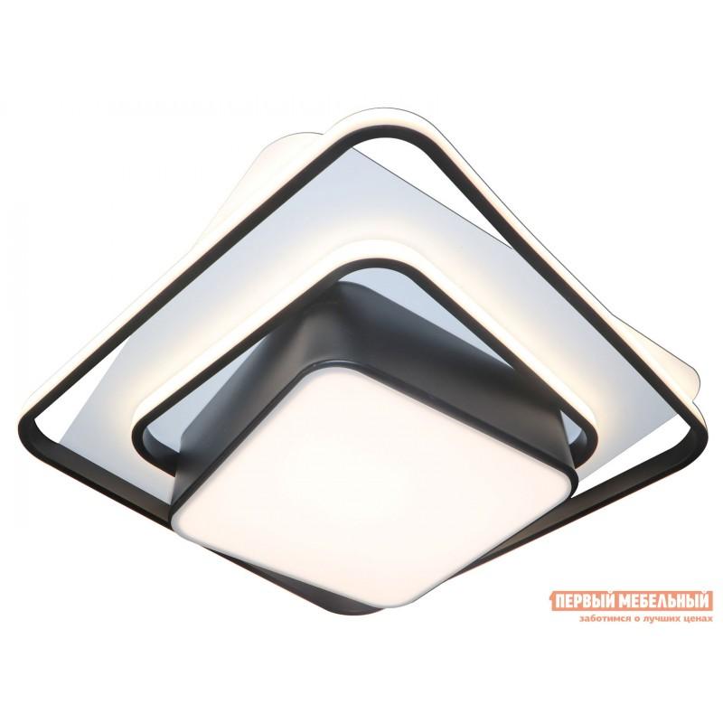 Люстра  LED 81038/4C Черно, металл / Белый, металл / Белый, пластик