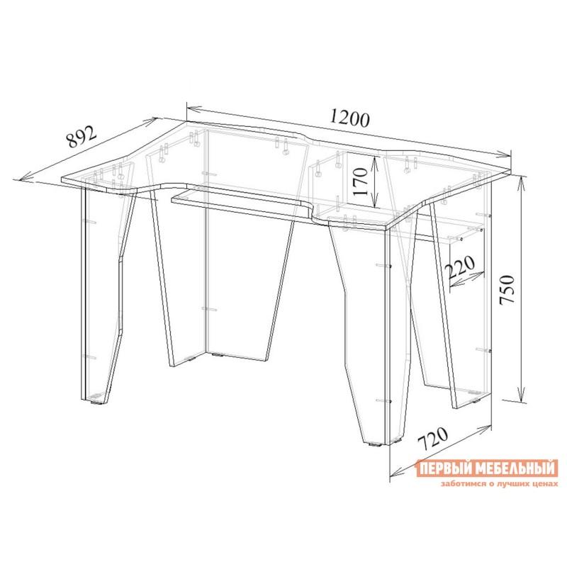 Компьютерный стол  Страйкер-1 Черный (фото 7)