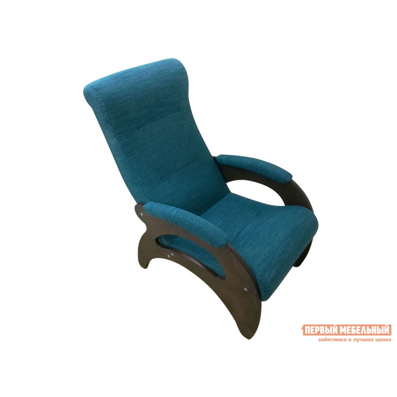 Кресло  Кресло Мария Темный орех / Бирюзовый, рогожка