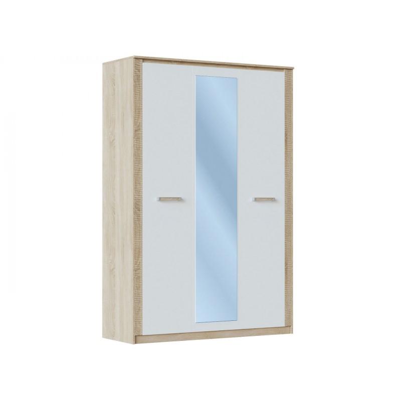 Распашной шкаф  Элегия ШК-154 Дуб сонома / Белый глянец