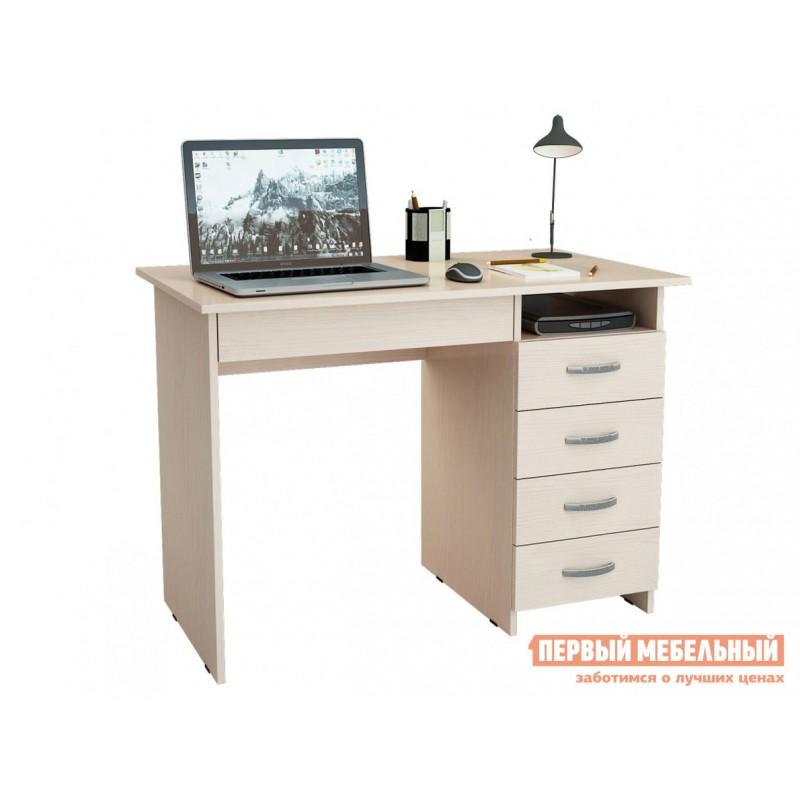 Компьютерный стол  Стол письменный Милан-1 (0120) Дуб молочный