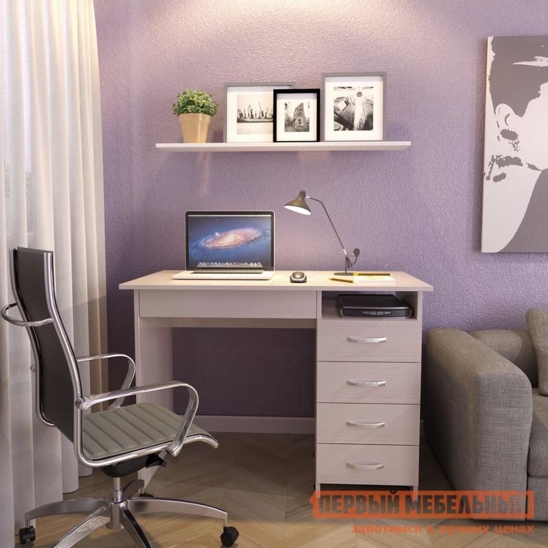 Компьютерный стол  Стол письменный Милан-1 (0120) Дуб молочный (фото 2)