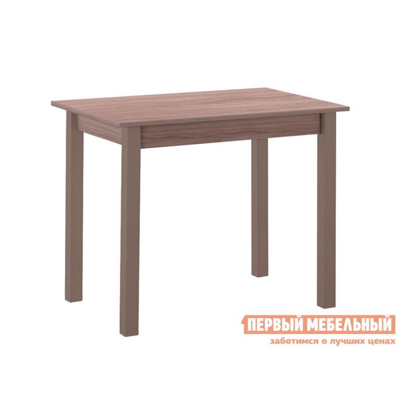 Кухонный стол  Стол обеденный прямая ножка Капучино (массив) / Шимо темный (ЛДСП)
