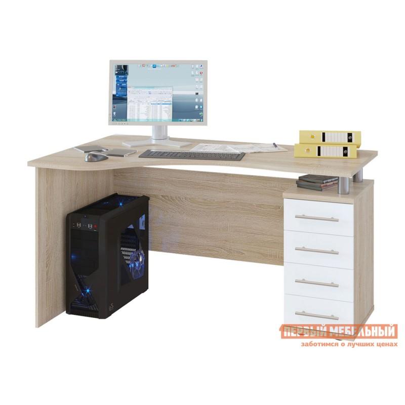 Письменный стол  КСТ-104.1 Дуб Сонома / Белый, Правый
