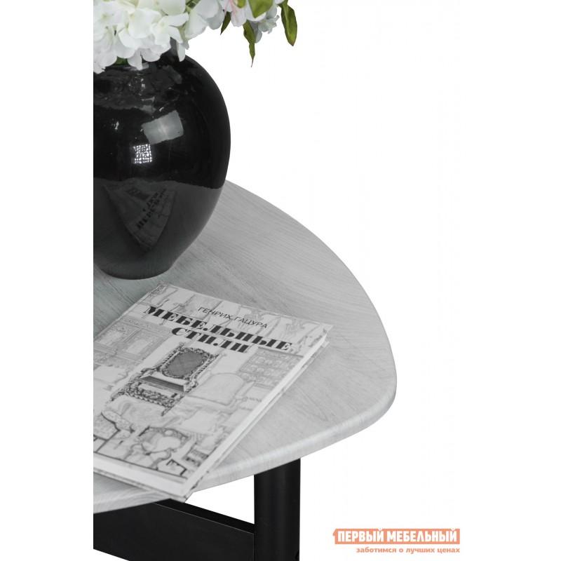 Журнальный столик  СтолжурнальныйСаут 1Д Дуб дымчатый / Черный (фото 5)