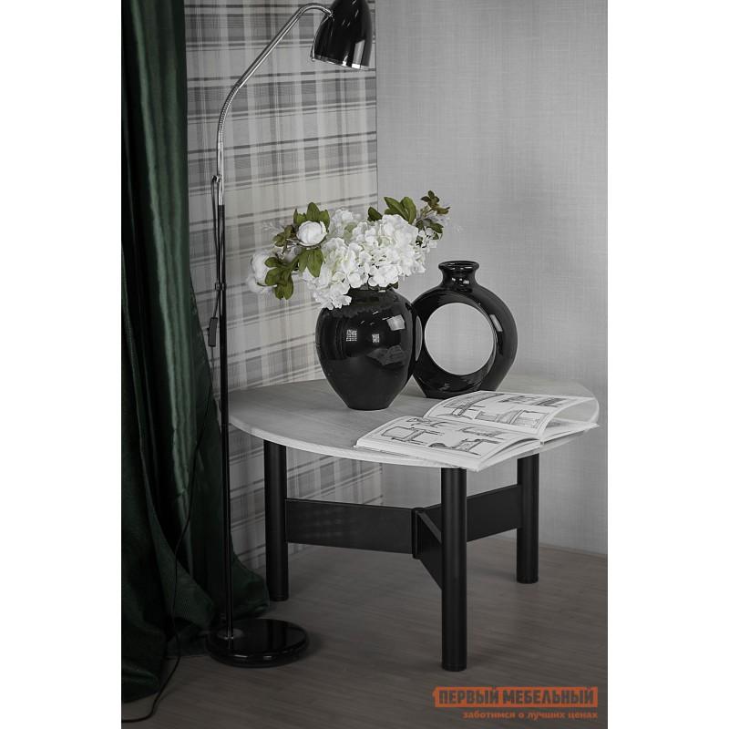Журнальный столик  СтолжурнальныйСаут 1Д Дуб дымчатый / Черный (фото 6)