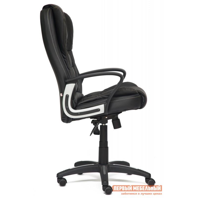 Кресло руководителя  Baron Кожзам, черный-черный перфорированный 36-6х36-6х06 (фото 3)