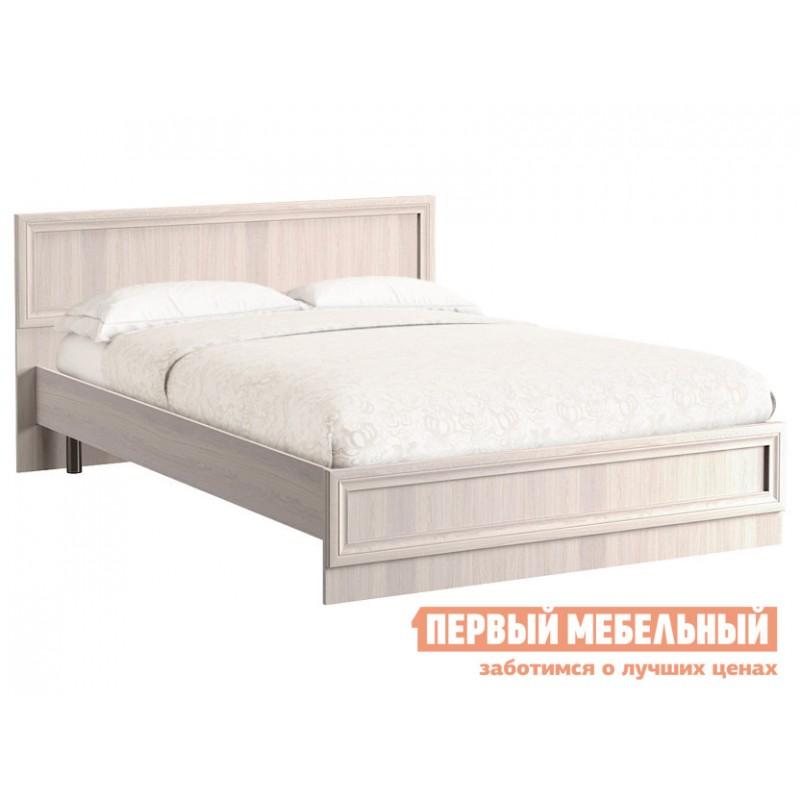 Двуспальная кровать  Кровать Аврора с основанием и ножками Ясень Анкор светлый, 1400 Х 2000 мм