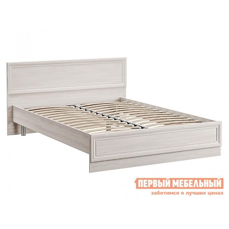 Двуспальная кровать  Кровать Аврора с основанием и ножками Ясень Анкор светлый, 1400 Х 2000 мм (фото 2)