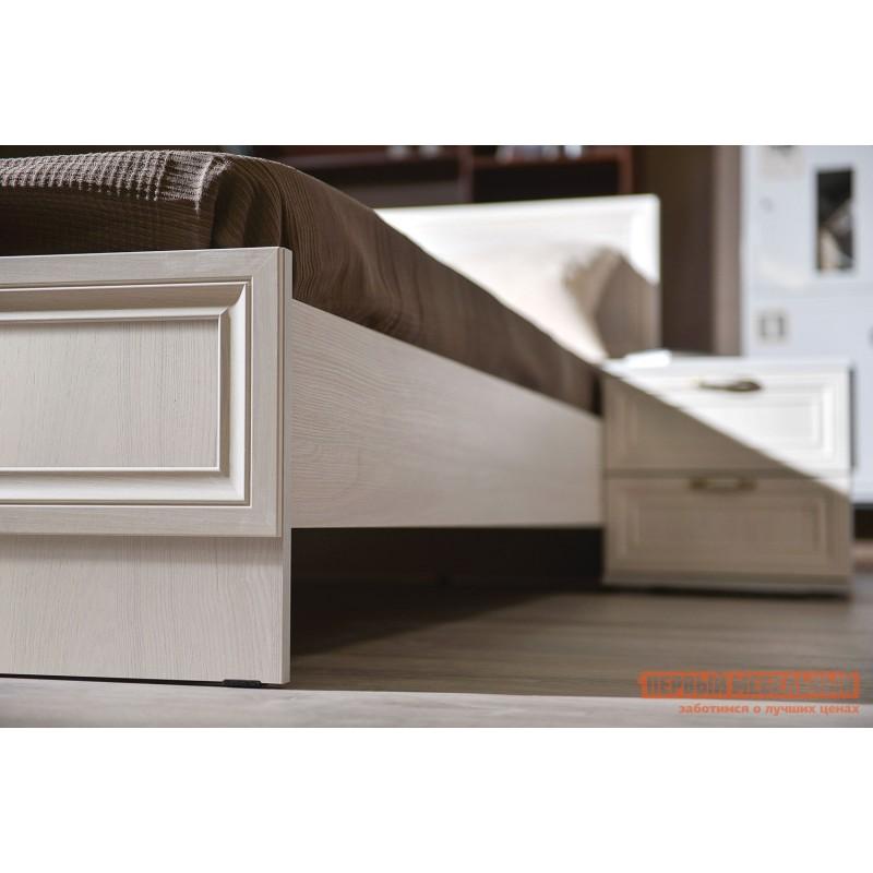 Двуспальная кровать  Кровать Аврора с основанием и ножками Ясень Анкор светлый, 1400 Х 2000 мм (фото 4)