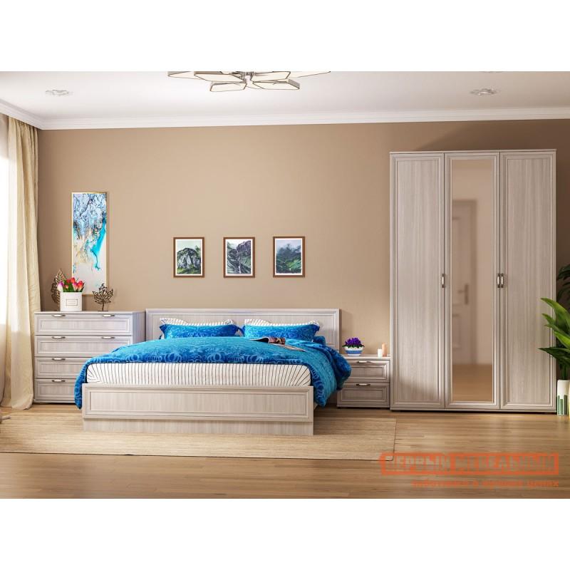 Двуспальная кровать  Кровать Аврора с основанием и ножками Ясень Анкор светлый, 1400 Х 2000 мм (фото 5)