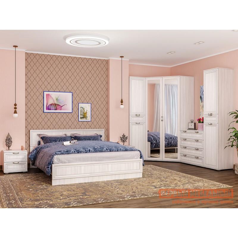 Двуспальная кровать  Кровать Аврора с основанием и ножками Ясень Анкор светлый, 1400 Х 2000 мм (фото 6)