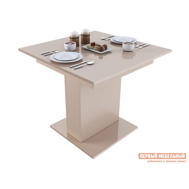 Кухонный стол  Бергамо 4 Бежевый глянец