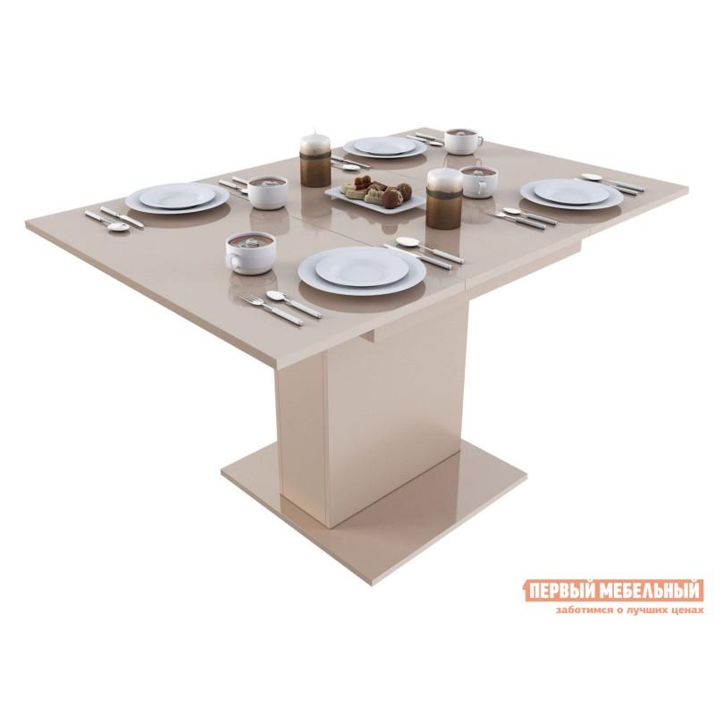 Кухонный стол  Бергамо 4 Бежевый глянец (фото 2)