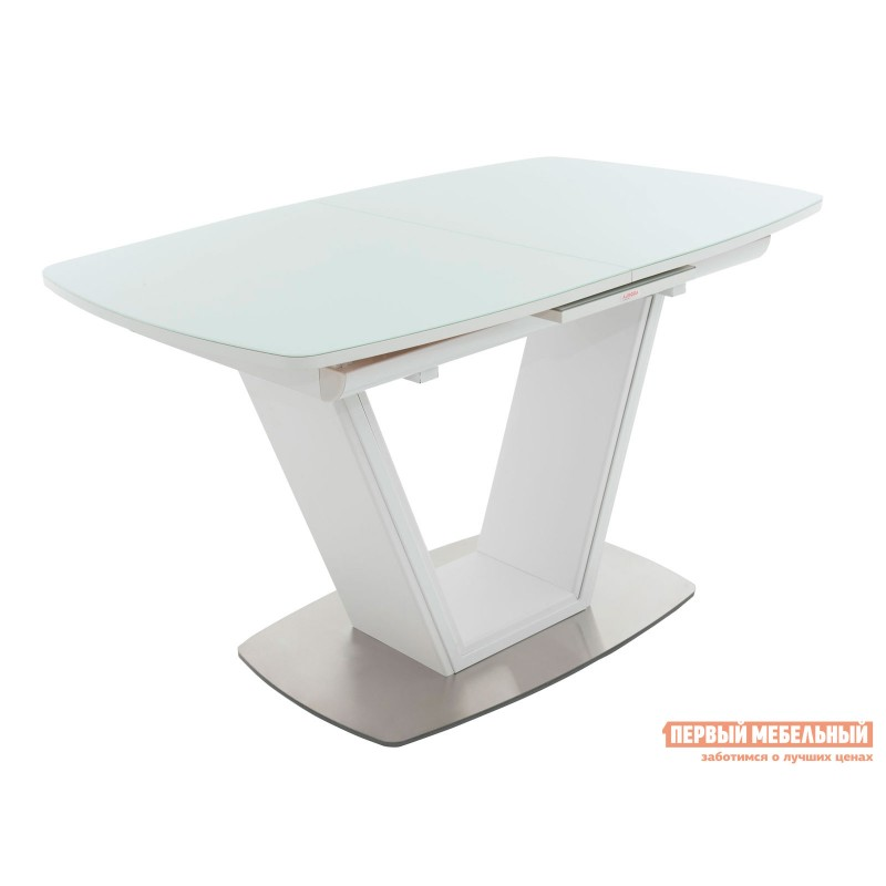 Кухонный стол  Стол Севилья Белый / Стекло белое
