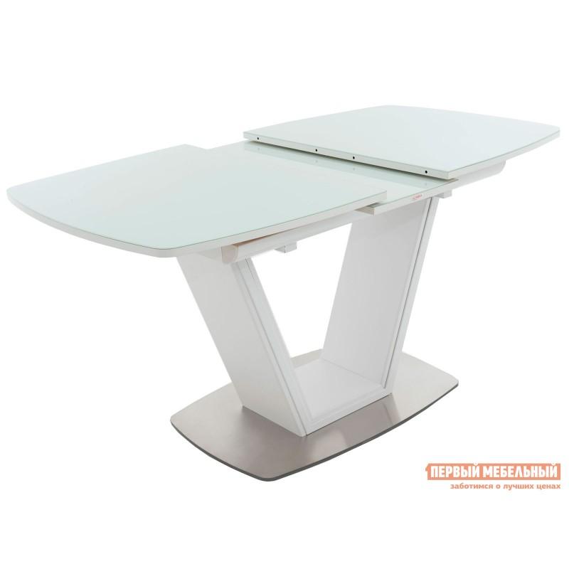 Кухонный стол  Стол Севилья Белый / Стекло белое (фото 2)