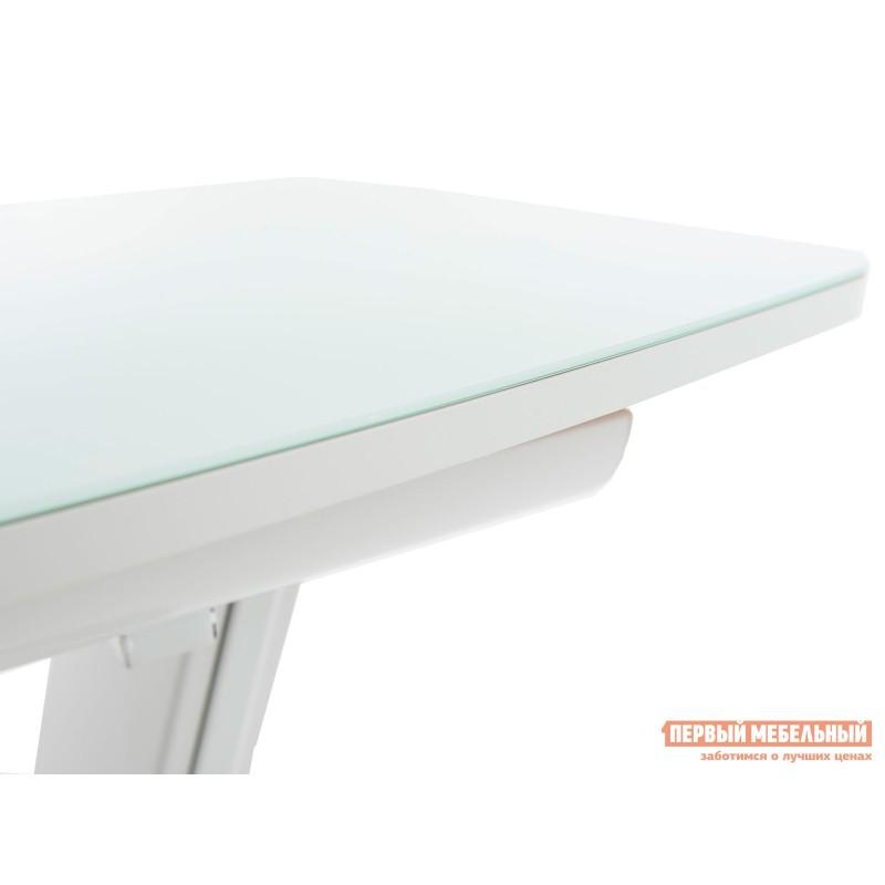 Кухонный стол  Стол Севилья Белый / Стекло белое (фото 3)