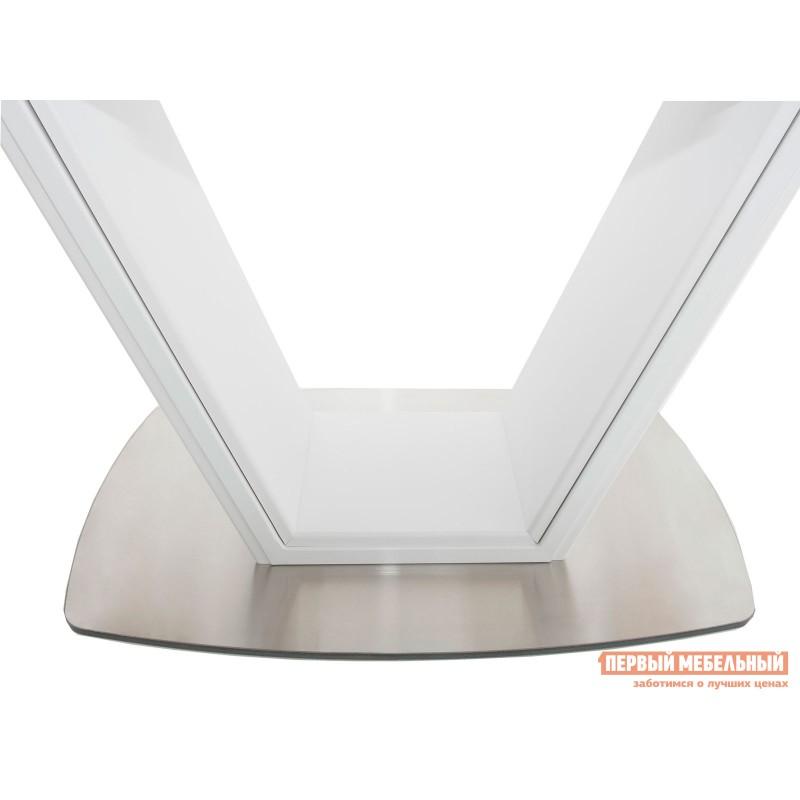 Кухонный стол  Стол Севилья Белый / Стекло белое (фото 5)