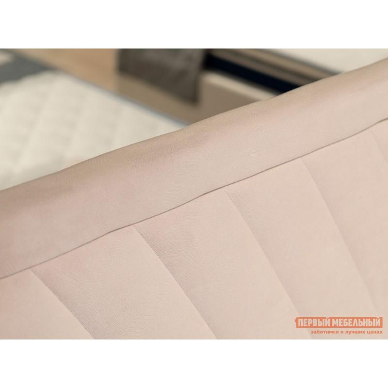 Двуспальная кровать  Кровать с подъемным механизмом Саманта Розовый, микровелюр, 1600 Х 2000 мм (фото 3)