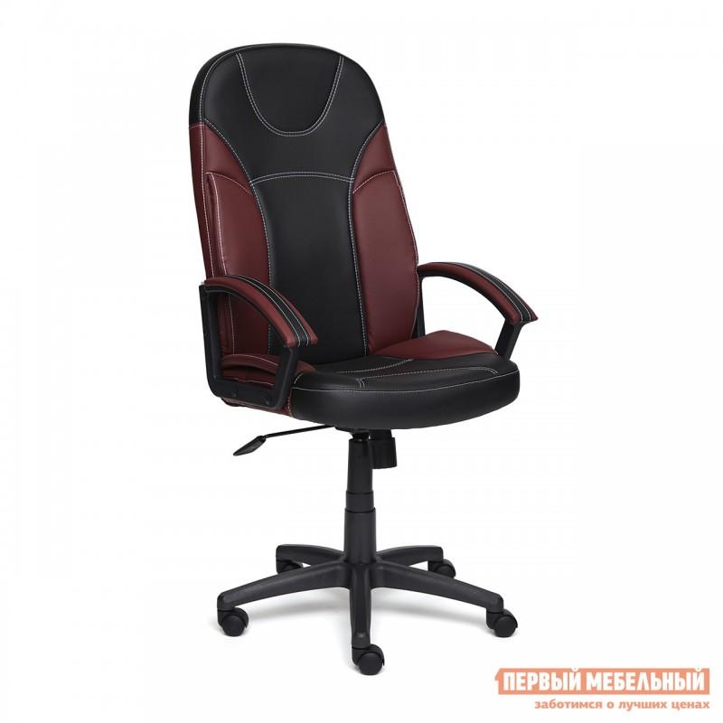 Кресло руководителя  Twister Черная, иск.кожа / Бордо, иск. кожа