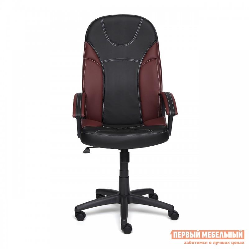 Кресло руководителя  Twister Черная, иск.кожа / Бордо, иск. кожа (фото 2)