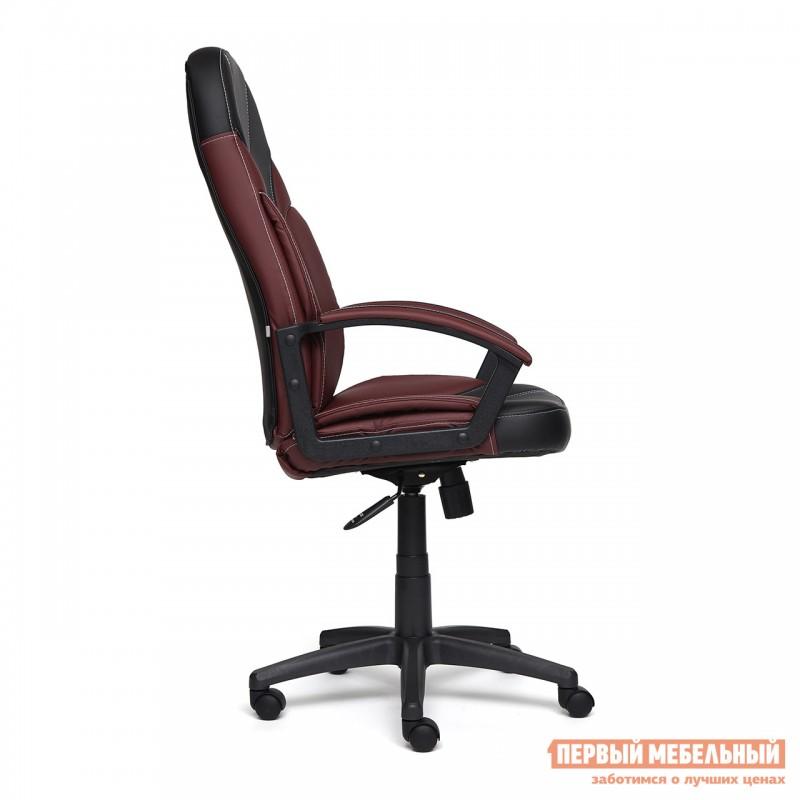 Кресло руководителя  Twister Черная, иск.кожа / Бордо, иск. кожа (фото 3)