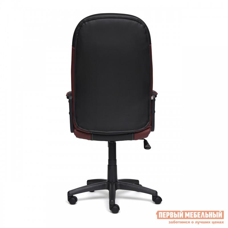Кресло руководителя  Twister Черная, иск.кожа / Бордо, иск. кожа (фото 4)