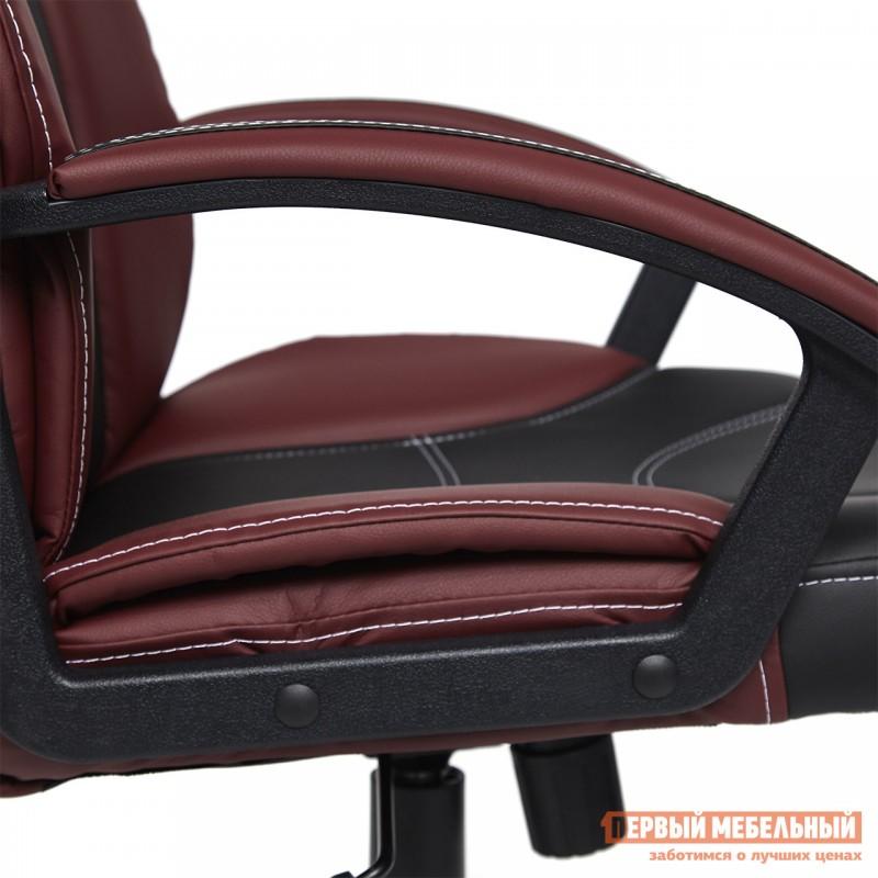 Кресло руководителя  Twister Черная, иск.кожа / Бордо, иск. кожа (фото 5)